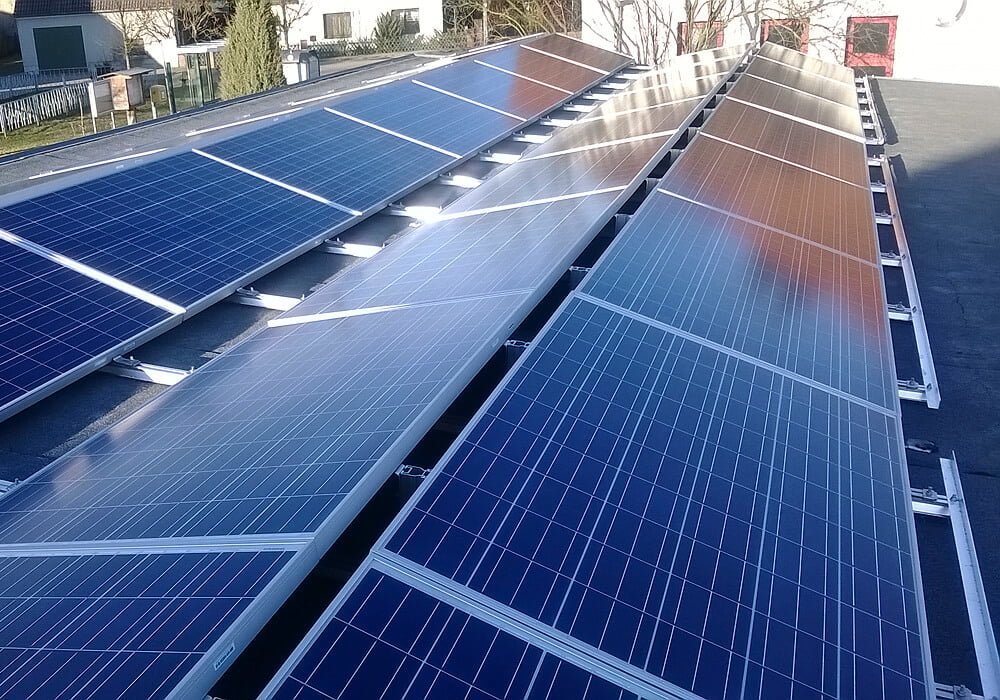 Solar Montagesystem auf Flachdach