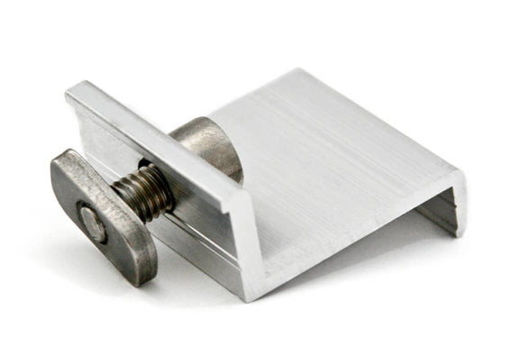 End clamp for fastening of photovoltaic modules