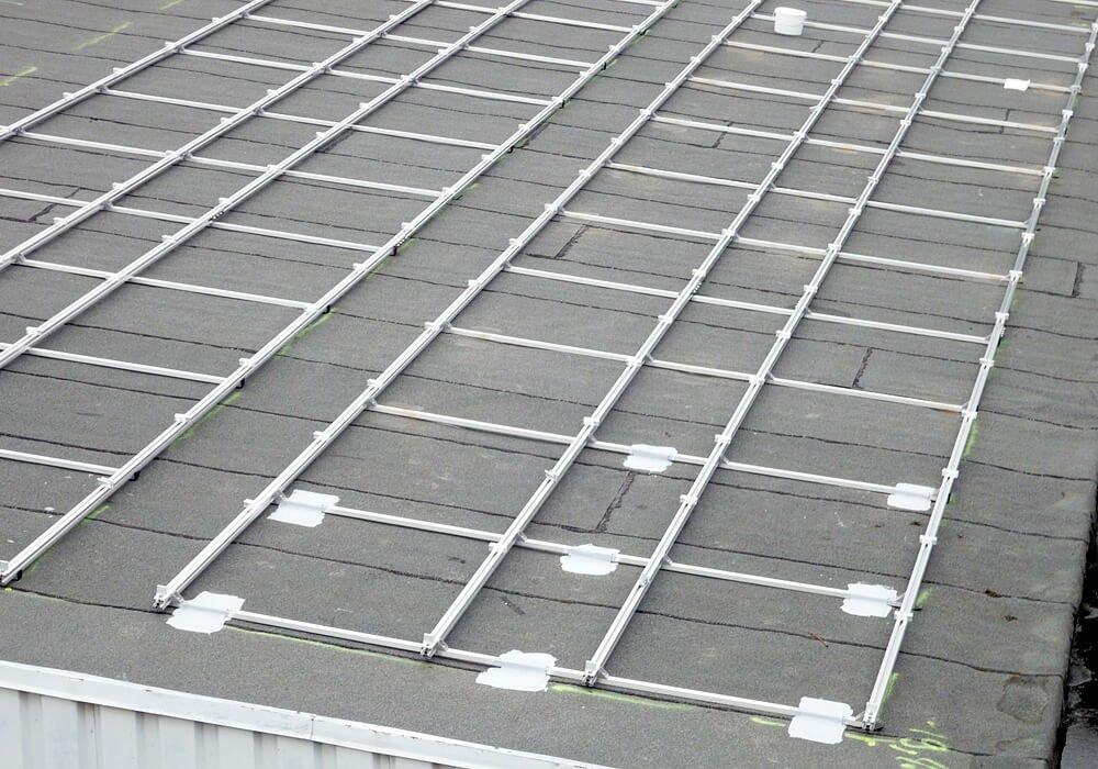 Ballast Free Adhesive Mounting On Bitumen Roof Solar