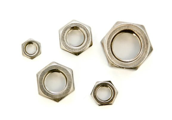 Hexagon nut for solar mounting systems