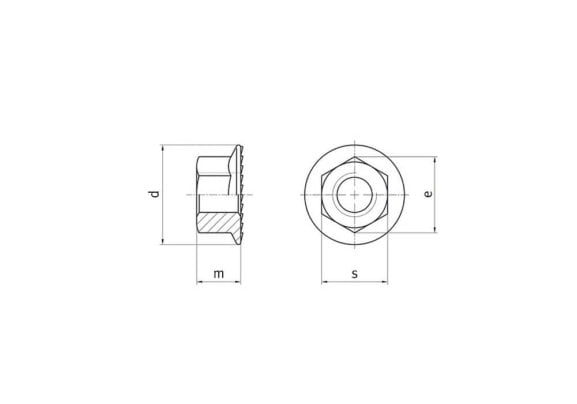 Locking nut for solar mounting systems