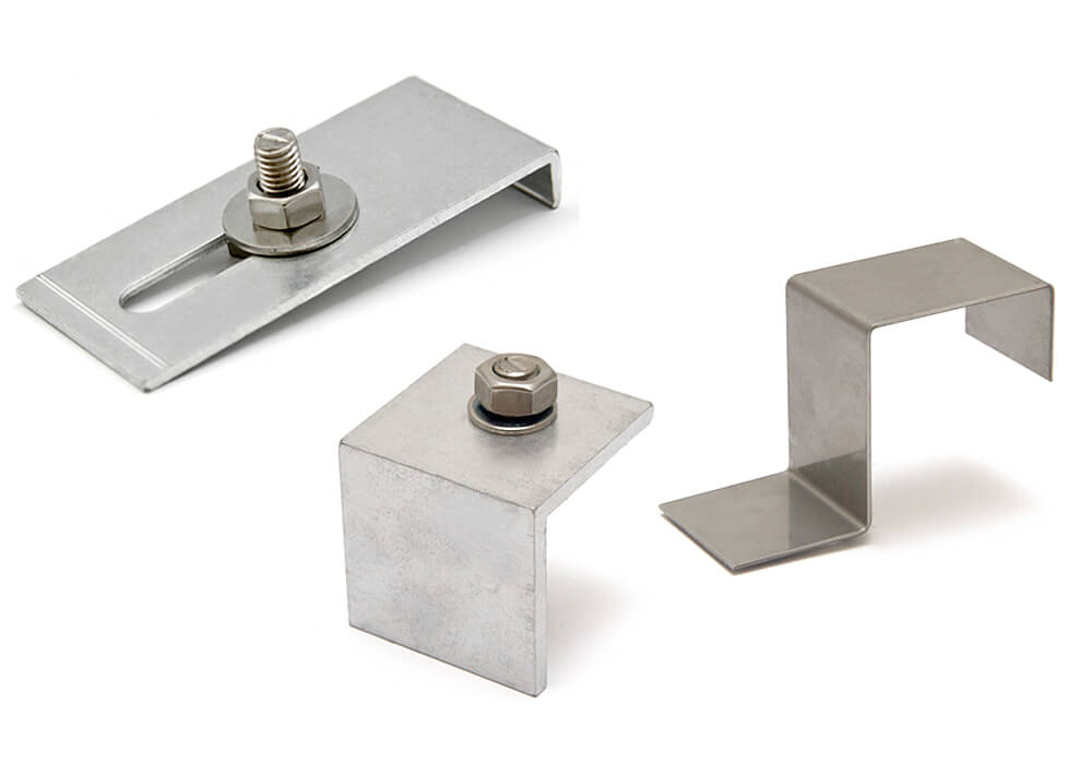 Universal module-clamp for horizontal, elevated mounting