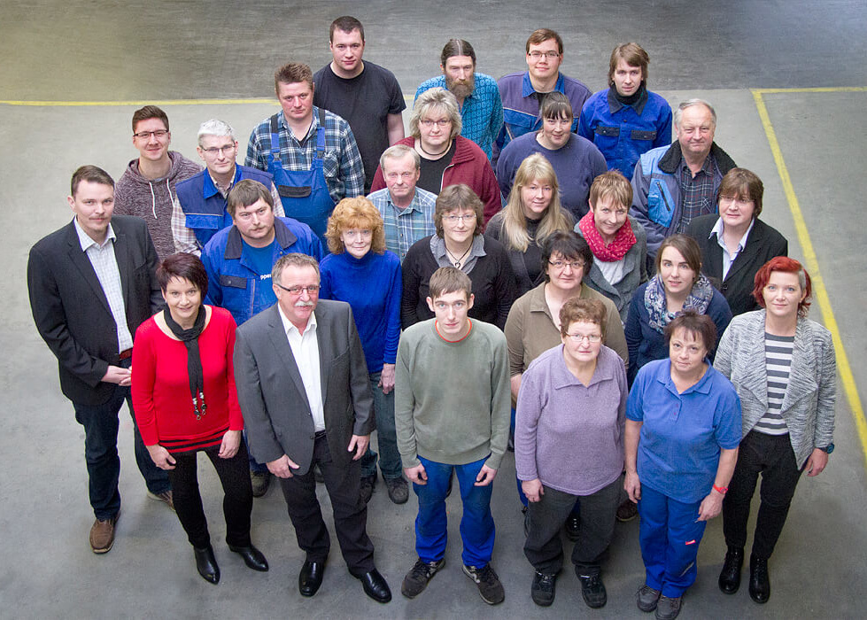 Gruppenfoto der Altec Metalltechnik GmbH in Crispendorf