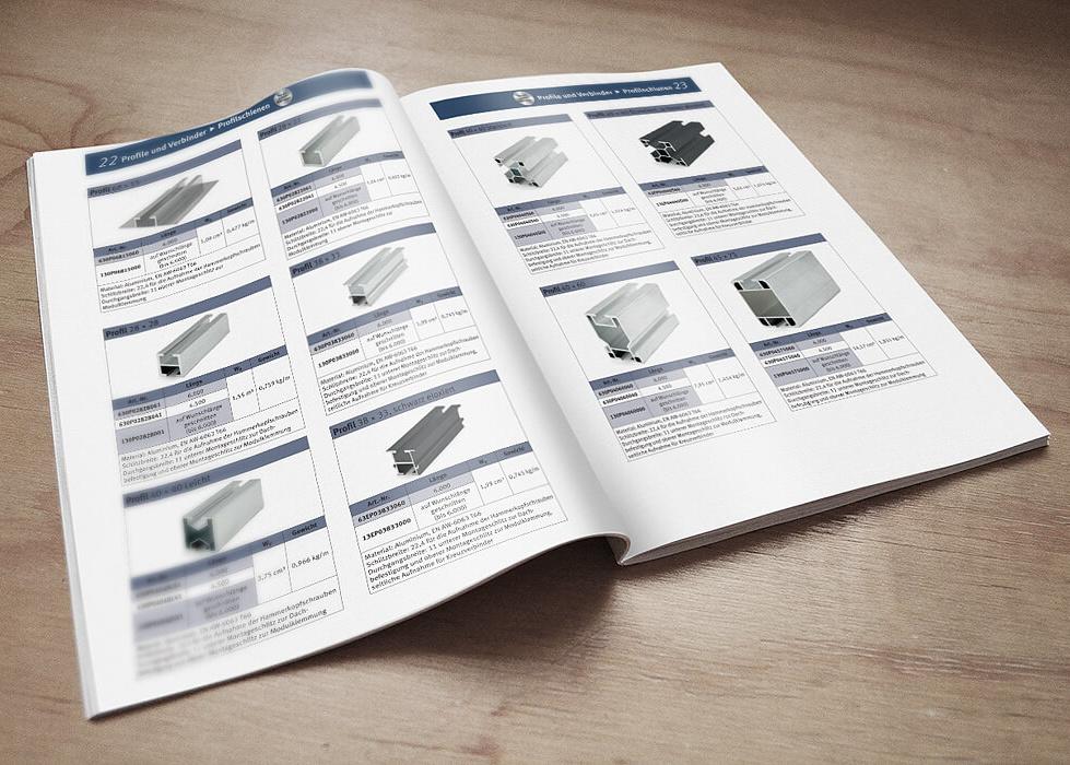 Katalog für Solar Montagesysteme und Einzelteile