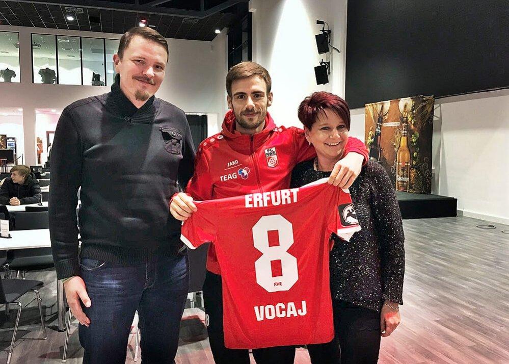 Markus Stehle, Liridon Vocaj und Katja Pasold