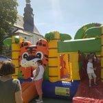 Hüpfburg beim Kinderfest Crispendorf