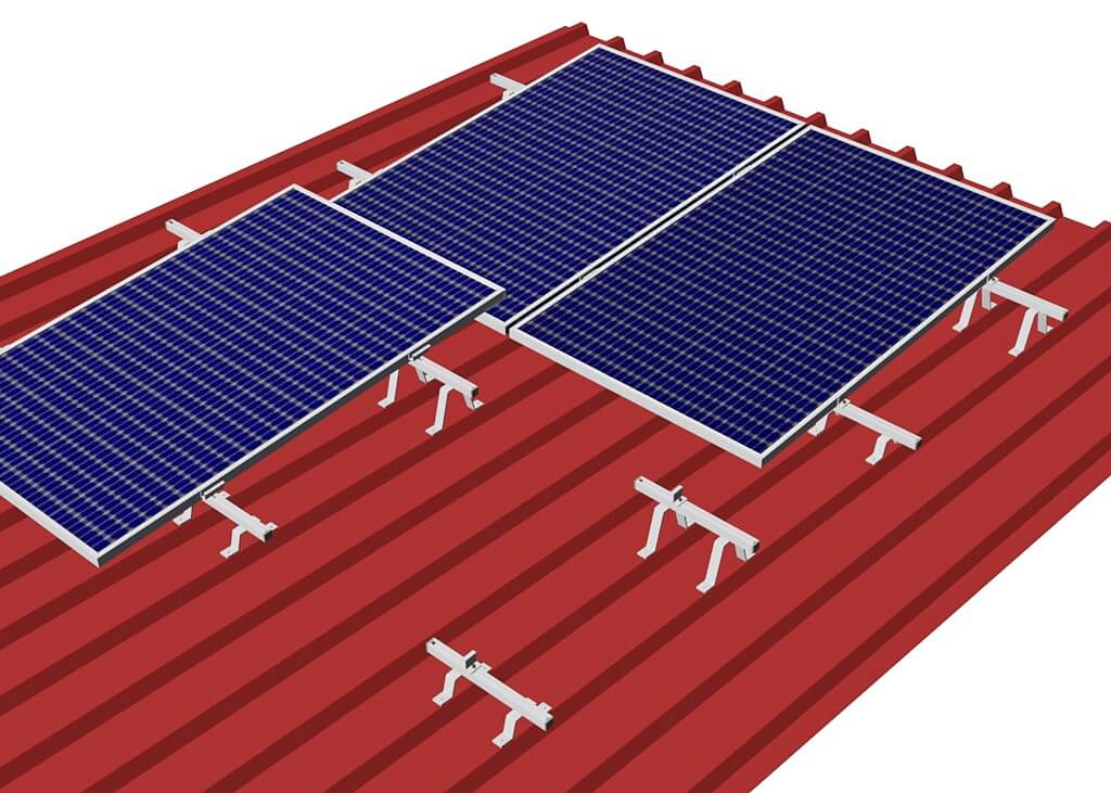 An optimal angle of attack for PV modules on very flat trapezoidal sheet metal roofs